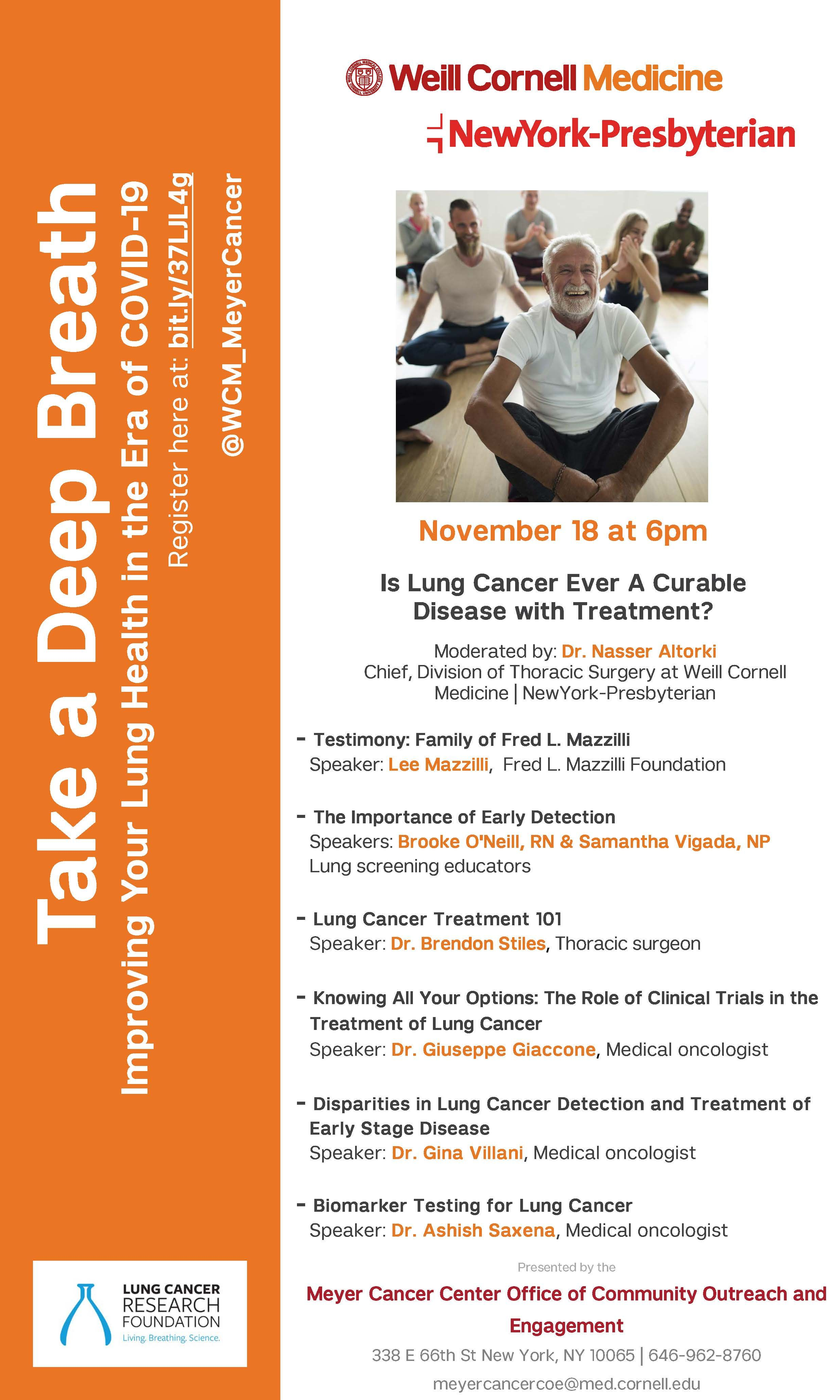 lung cancer awareness month, nasser altorki, brendon stiles, thoracic surgeon, cardiothoracic surgery, lung cancer covid-19