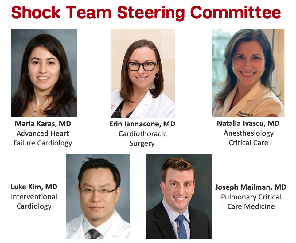 weill cornell medicine shock team ecmo, shock team steering committee